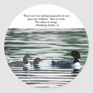Loon Stickers with quote