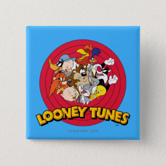 LOONEY TUNES™ Character Logo 2 Inch Square Button