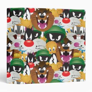 LOONEY TUNES™ Emoji Pattern 3 Ring Binder