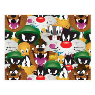LOONEY TUNES™ Emoji Pattern Postcard