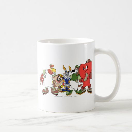 Looney Tunes Group Baseball Picture Coffee Mugs