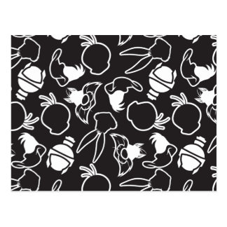 LOONEY TUNES™ Head Outlines Pattern Postcard