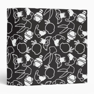 LOONEY TUNES™ Head Outlines Pattern Vinyl Binder