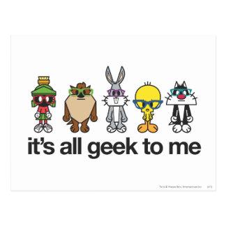 Looney Tunes Nerds - All Geek Postcards