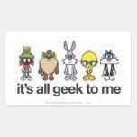 LOONEY TUNES™ Nerds - All Geek Rectangular Stickers