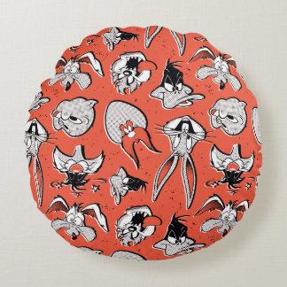 LOONEY TUNES™ Retro Halftone Pattern Round Pillow