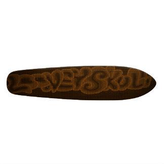 LooneySkull - Woven Custom Skate Board