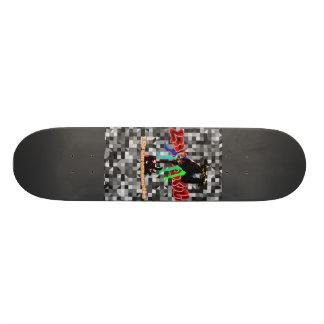 LooneySkullRUD: Cuatro-Skull Skate Board Deck