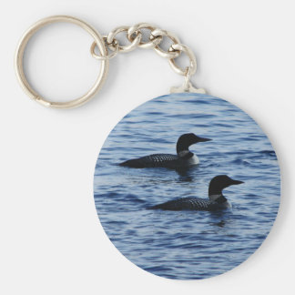 Loons in Maine Keychain