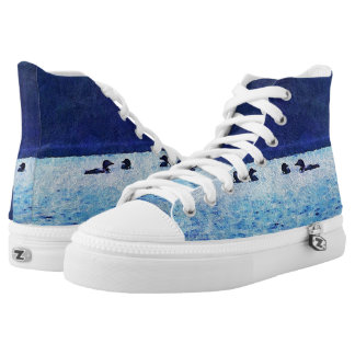 Loons On The Lake High Top Sneakers
