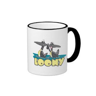 loony loons bird cartoon coffee mug