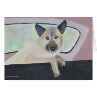 Loopy - Shepherd Mix Portrait Card