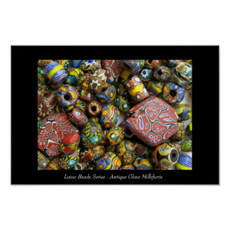 Loose Beads Series - Antique Millefiori Glass Poster