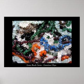 Loose Beads Series - Gemstone Chips Poster