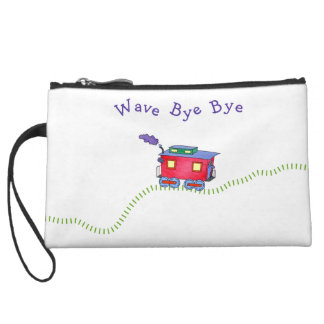 Loose Caboose Choo Choo Train Wristlet