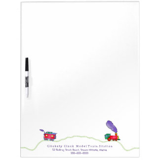Loose Caboose Clickety Clack Train Dry Erase Board