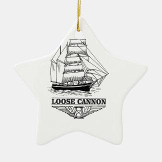 loose cannon boy ceramic star ornament
