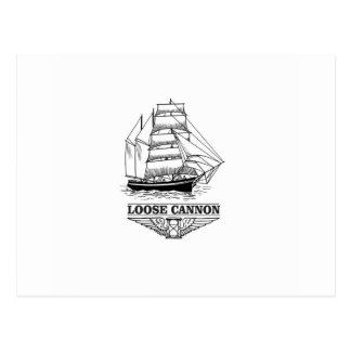 loose cannon boy postcard