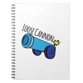 Loose Cannon Spiral Notebook