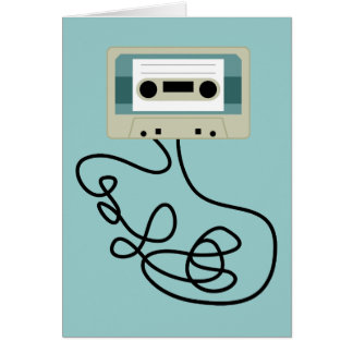 Loose Cassette Tape Loops Card