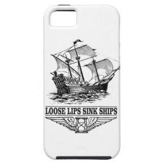 loose lips sink ships iPhone 5 covers