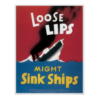 Loose Lips WWII Poster