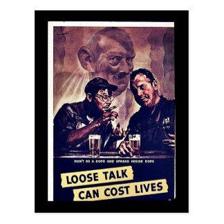 Loose Talk Can Cost Lives Postcard