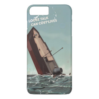 Loose Talk Cost Lives WW2 Poster iPhone 7 Plus Case