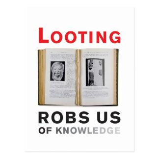 Looting Robs Us of Knowledge postcard