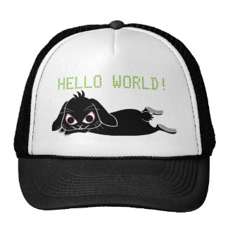 Lop ear black rabbit trucker hat