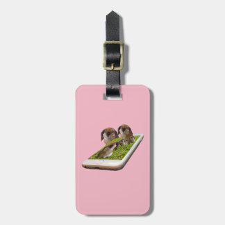 Lop Eared Bunny Rabbit Family Tech Swavy, Luggage Tag