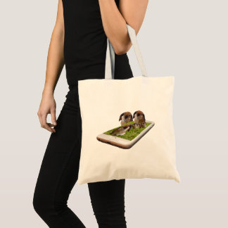 Lop Eared Bunny Rabbit Family Tech Swavy, Tote Bag