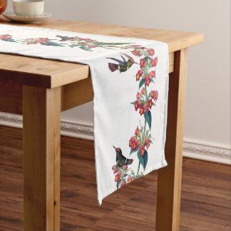 Lophornis Hummingbird Birds Flowers Table Runner