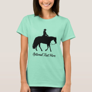 Loping Black Western Pleasure Horse Silhouette T-Shirt