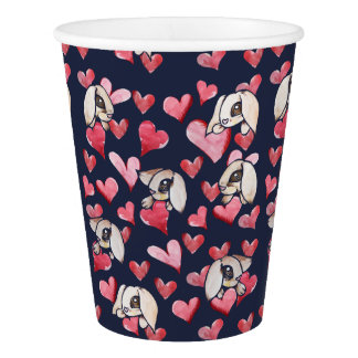 Lops of Love Rabbit Hearts Paper Cup