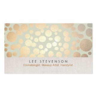 L'or de cosmétologie entoure le vert sauge pâle carte de visite standard