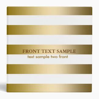 L'or de Faux de Monogramed barre le motif Classeur 3 Anneaux