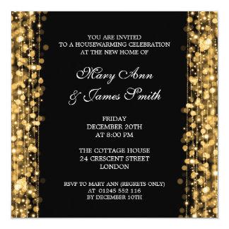 L'or de partie de pendaison de crémaillère carton d'invitation  13,33 cm