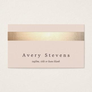 L'or élégant a barré (aucun éclat) rose-clair cartes de visite