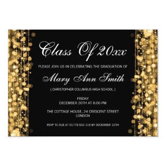 L'or élégant de fête de remise des diplômes carton d'invitation  12,7 cm x 17,78 cm