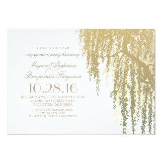 L'or ombrage la partie de fiançailles élégante de carton d'invitation  12,7 cm x 17,78 cm