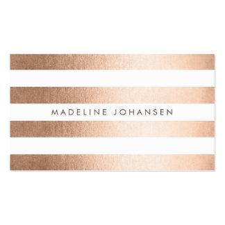 L'or rose barre des cartes de visite de coiffeur carte de visite standard