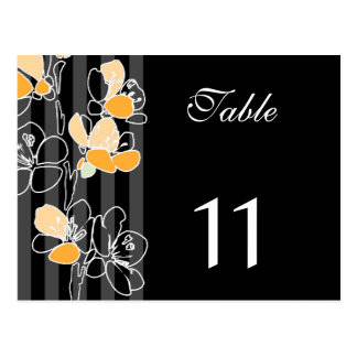 Loralye Stylized Floral Table Number Postcard