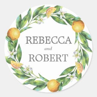 L'Orangerie Wedding Classic Round Sticker