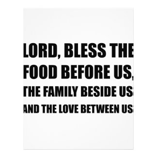 Lord Bless Food Family Letterhead Design