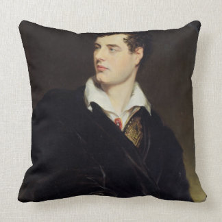 Lord Byron after a Portrait painted by Thomas Phil Throw Pillow