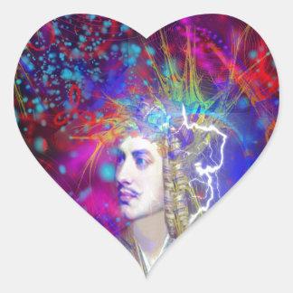Lord Byron Heart Sticker