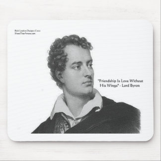 """Lord Byron """"Love W/O Wings"""" Quote Gifts & Tees Mousepads"""