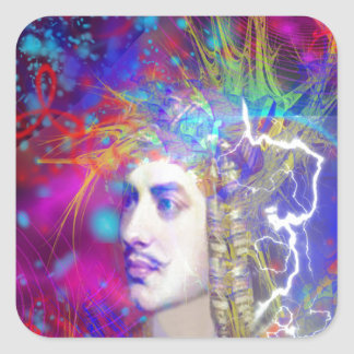 Lord Byron Square Sticker