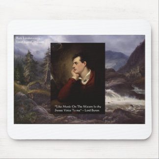 "Lord Byron ""Sweet Voice"" Love Quote Gifts Tees Etc Mouse Pad"